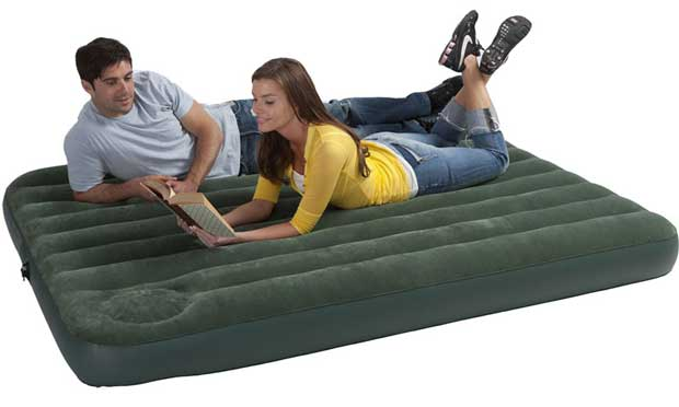 Couple on Camping Air Mattress